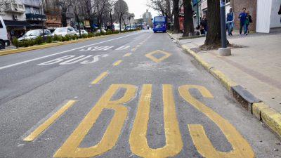 La plata / El municipio avanza en la creación de carriles preferenciales en diagonal 80