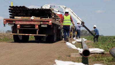 Pergamino / Comenzó una obra histórica para llevar el gas a Fontezuela