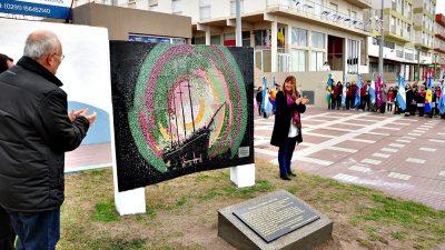 """Descubrieron el mural de la """"Goleta Lucinda Sutton"""" que hace 101 años marcó el destino de Monte Hermoso"""