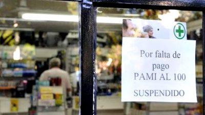 En toda la Provincia, las farmacias cortaron la entrega por PAMI de medicamentos al 100%