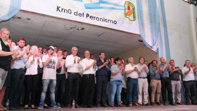 """Día de la Lealtad en Berisso: """"El peronista que responde a las tres banderas no tiene que votar el Presupuesto"""", dijo Tomada"""