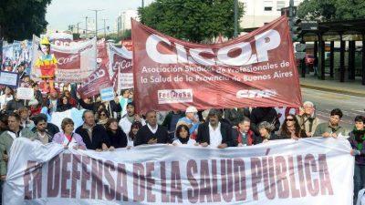 """El jueves se realizará una """"Marcha Federal en Defensa de la Salud Pública"""""""