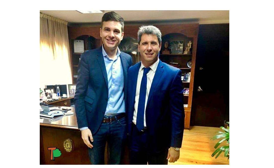 """El dirigente bonaerense, Héctor Griffini fue recibido por el gobernador Uñac y confesó """"es un ejemplo a seguir"""""""