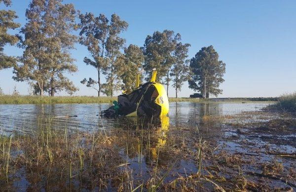 Un helicóptero con una familia cayó a la vera de Ruta 3 y al rescate lo hicieron médicas que volvían del Encuentro de Mujeres