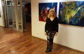 Emilia Ghirardi presentó su muestra plástica en el Club Alemán de Buenos Aires
