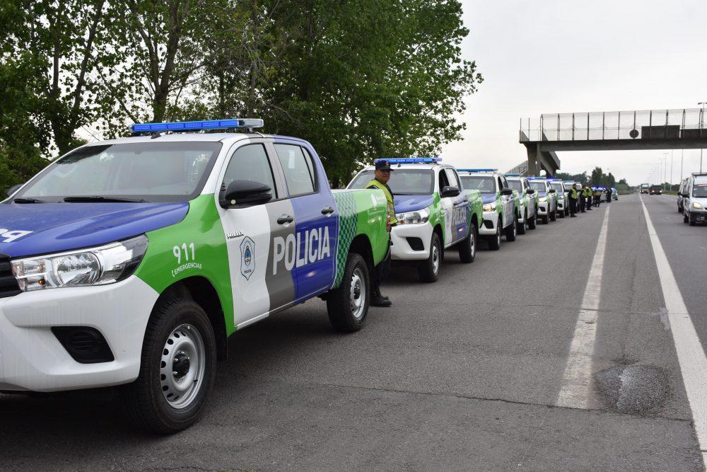 Gral Rodríguez / Kubar presentó 15 patrulleros nuevos y anunció un la creación de un destacamento policial