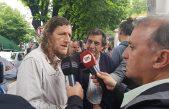 """El titular de ATE se presentó en Fiscalía, criticó la """"judicialización de la protesta"""" y llamó a luchar contra el Presupuesto provincial"""