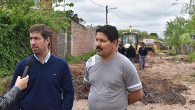 Mercedes / Avanzan las obras hídricas y entubamiento en los barrios de la ciudad