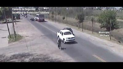 Impactante choque frontal entre un auto y un colectivo en Tigre (video)