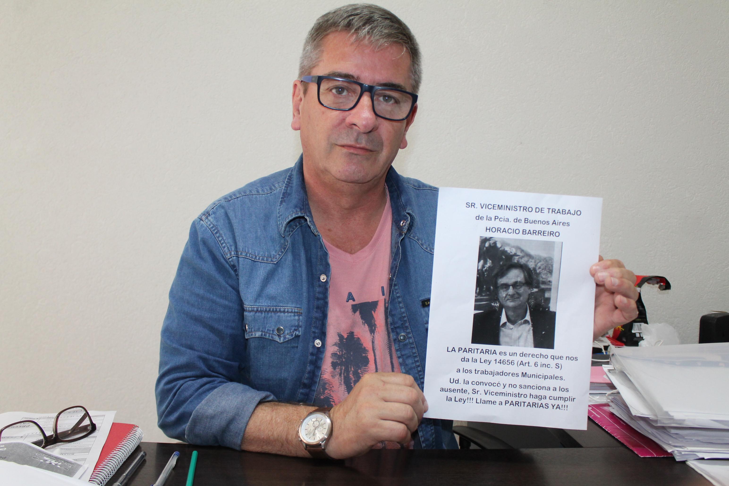 """Municipales de La Plata reclaman Paritarias: """"Confunden a la gente en medio de la crisis"""", dijo Hernández"""