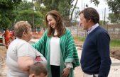 San Miguel / María Eugenia Vidal y Jaime Méndez visitaron la obra hidráulica Los Berros