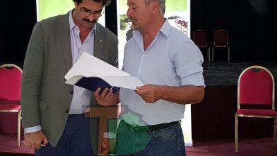 El intendente Rossi y el ministro Sarquis firmaron un convenio para la implementación del DUT en Rojas