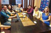 Diez y Duarte se reunieron con Corvatta y Merquel para analizar la situación laboral en la región