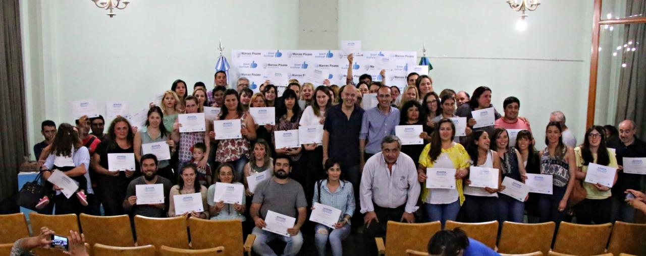 Bolívar / Pisano concretó el pase a planta permanente de 100 trabajadores municipales
