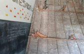 En el Normal de Chivilcoy se cayó el cielorraso entero de un aula