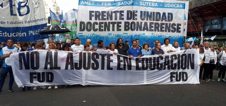 """Docentes del Frente de Unidad rechazaron la oferta de """"rebaja salarial"""" y van al paro el lunes"""