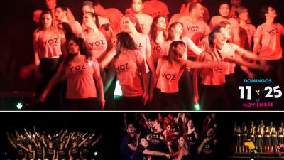 Explotó el Teatro Ópera con Voz en Acción, el único Show Choir de La Plata