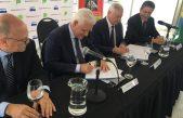 ABSA firmó con la Unión del Agua de Francia un convenio para reconstruir la planta potabilizadora Donato Gerardi