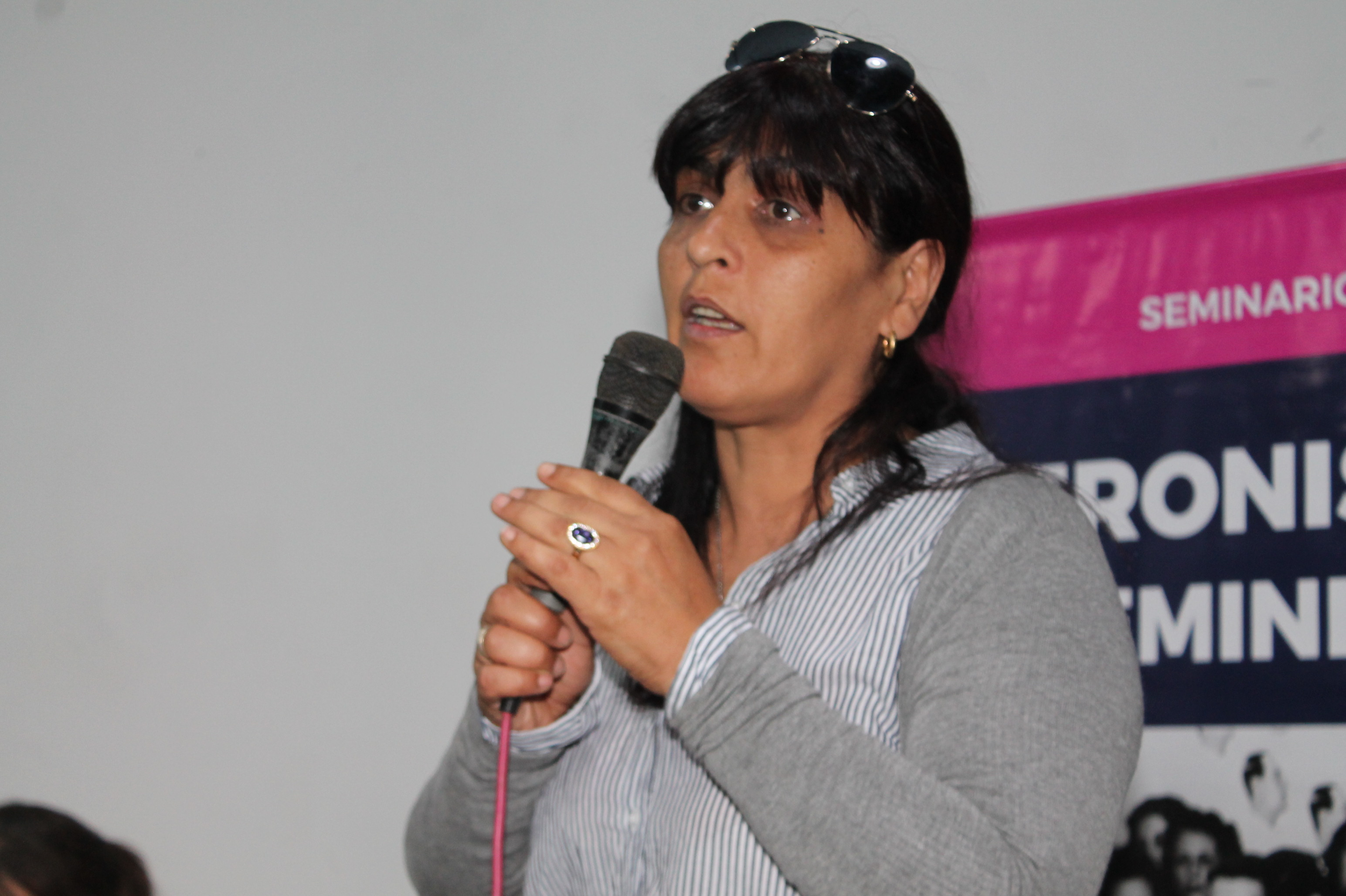 """La hija de Moyano estuvo en La Plata y llamó a """"construir a partir de lo que nos une"""""""