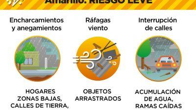 """En La Plata establecen """"Nivel de Riesgo Amarillo"""" por las lluvias y tormentas"""