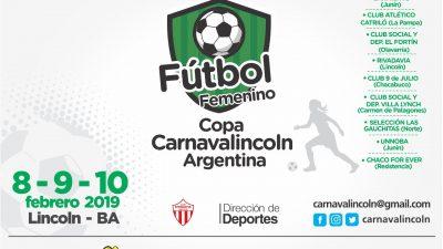 """Lincoln / En febrero se realizará el primer Torneo Nacional de Fútbol Femenino """"Copa Carnaval Lincoln 2019"""""""