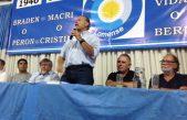 """""""Braden o Perón = Macri o Cristina"""" era la consigna en un acto de Sergio Berni"""