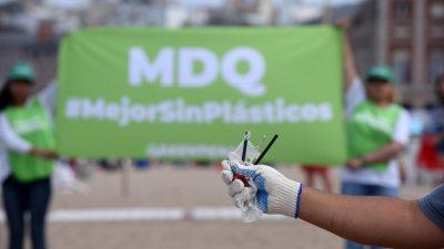Greenpeace realizó una limpieza de playas en Mar del Plata ¿sabías que argentina es de los países que más basura arroja al océano?