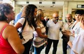 Merquel y Barquero acompañaron a trabajadores del Posadas que defienden la salud pública