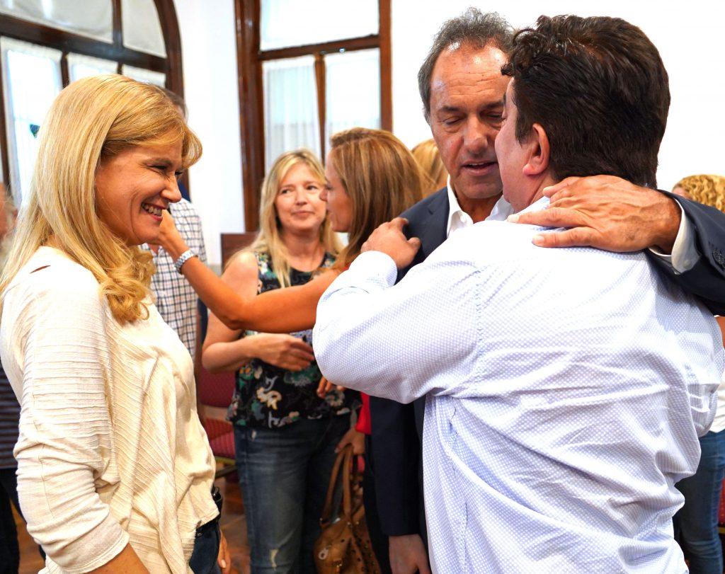 Scioli, Magario, Espinoza y Alvarez Rodríguez en La Matanza