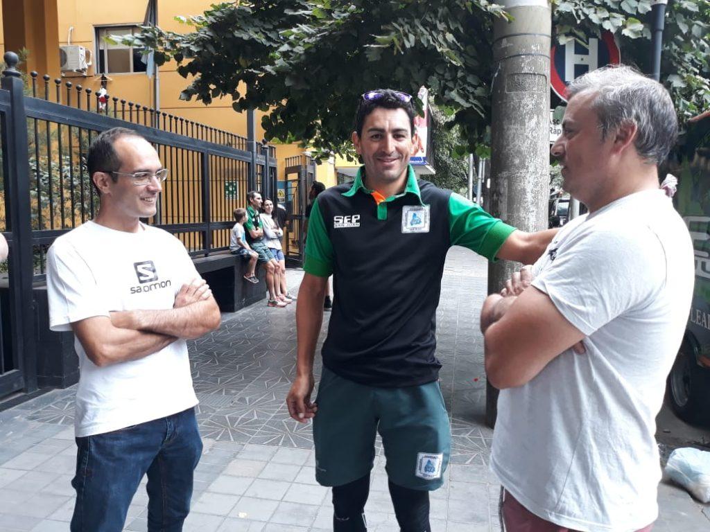 El multi campeón Juan Pablo Dotti dialoga con el intendente municipal, Marcos Pisano