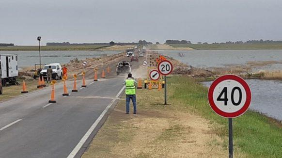 Se habilitó la circulación en el tramo de Ruta 3 que había quedado bajo agua