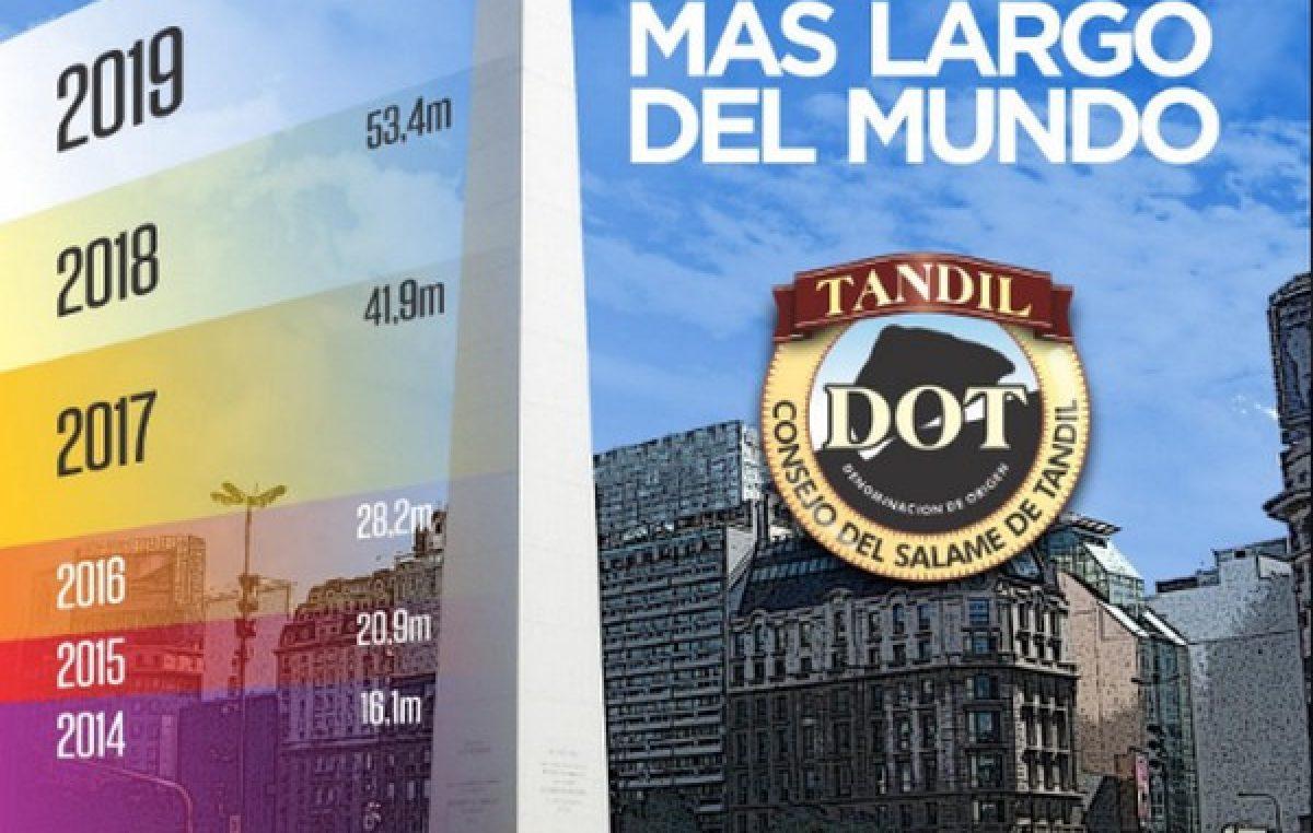 Preparen el pan: Tandil hará un salame más largo que el Obelisco y batirá un nuevo récord Guinness