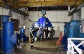 Buzos y especialistas terminaron de arreglar las bombas de ABSA en la planta potabilizadora de Donato Gerardi
