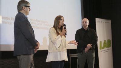 Vidal presentó el laboratorio audiovisual bonaerense con Campanella en Mar del Plata