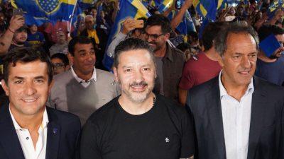 """El """"Angelicista"""" Gribaudo se mostró con Scioli y Menendez en Merlo ¿Ruptura?"""