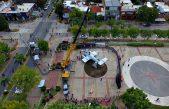 Colocaron un Avión Pucará en el Parque Urbano de Campana para homenajear a los héroes de Malvinas