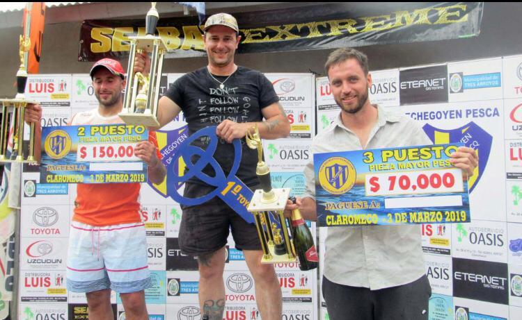 Cristian Moro de Carlos Casares se ganó una Toyota tras sacar un chucho de 9 kilos en Claromecó