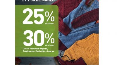 Empezá el otoño con las mejores ofertas del Banco Provincia ¡Descuentos del 30% en ropa!