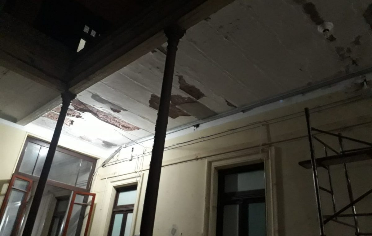 Pudo ser tragedia: se desplomó un techo en un jardín de infantes de Chivilcoy
