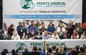 """En la previa al 4A el Frente Sindical marchará el 24 de marzo bajo el lema """"Memoria y Unidad"""""""