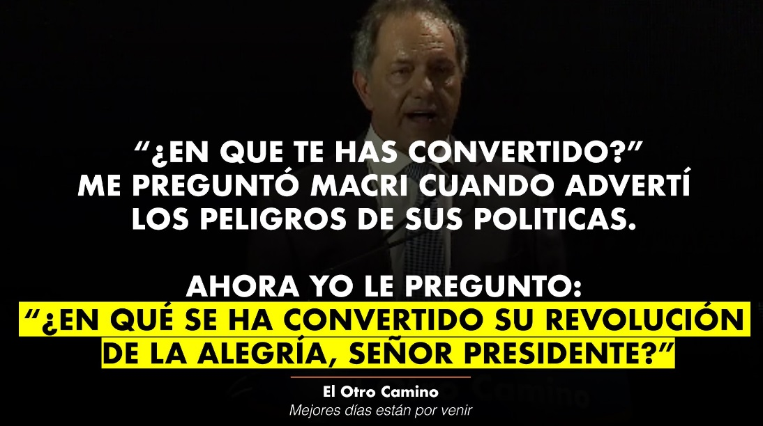 Scioli se lanzó como candidato evocando a Perón, Mandela y Néstor Kirchner