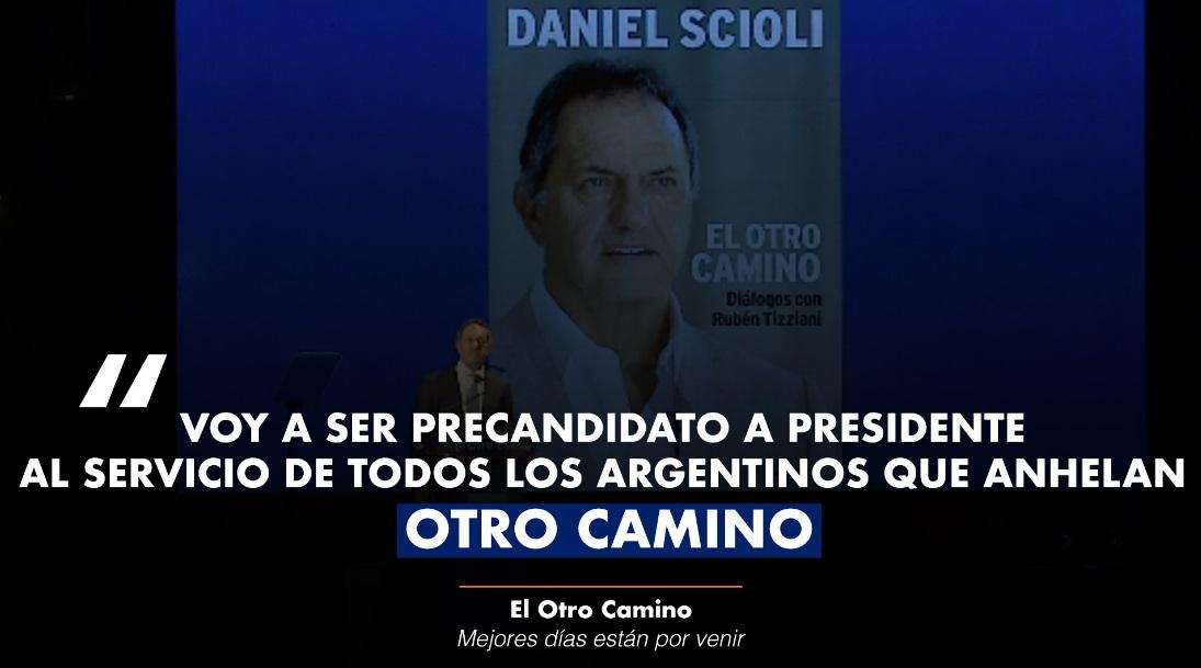 Daniel Scioli lanzó su candidatura a presidente 2019