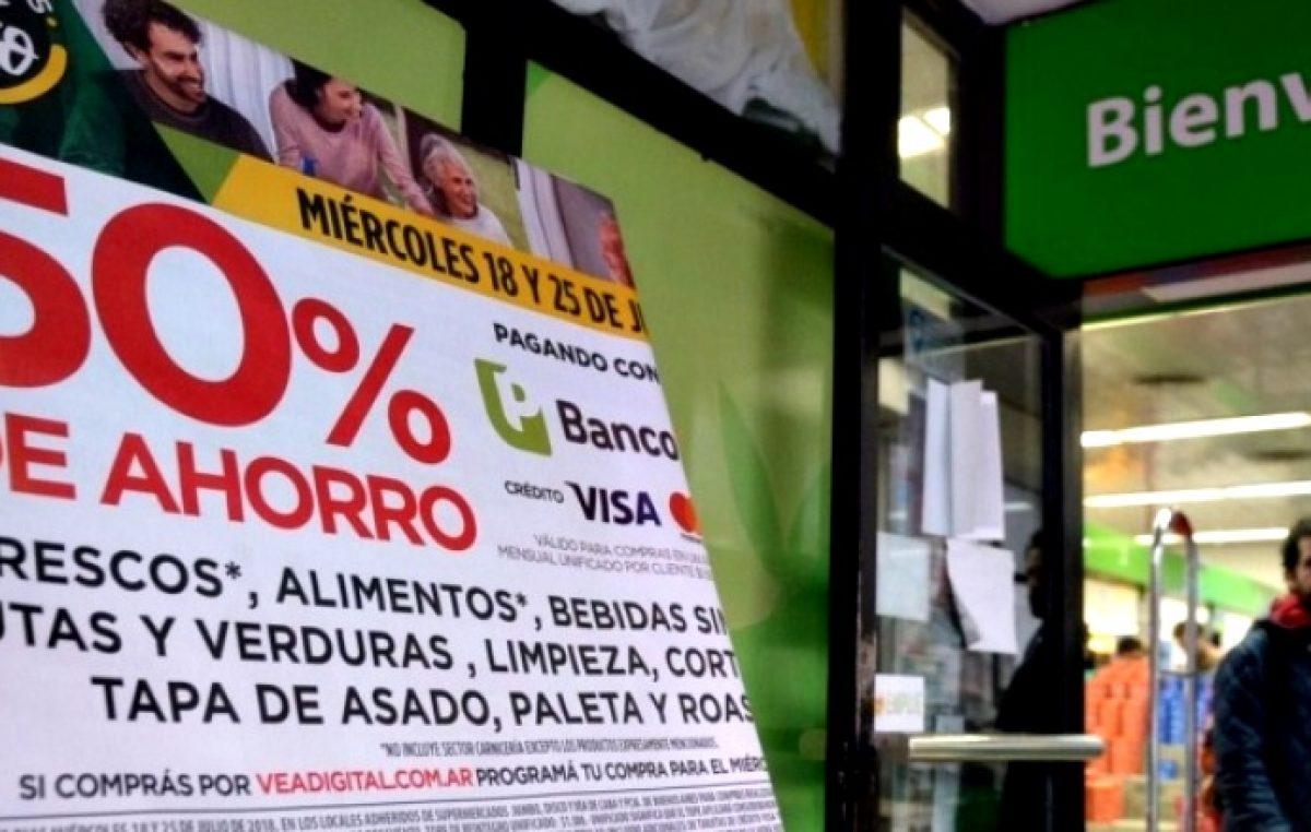 Finalmente, la vuelta de los descuentos al 50% del Banco Provincia en supermercados será el 24 de abril