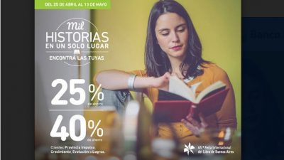 Disfrutá de la 45 Edición de la Feria del Libro con las promociones del Banco Provincia
