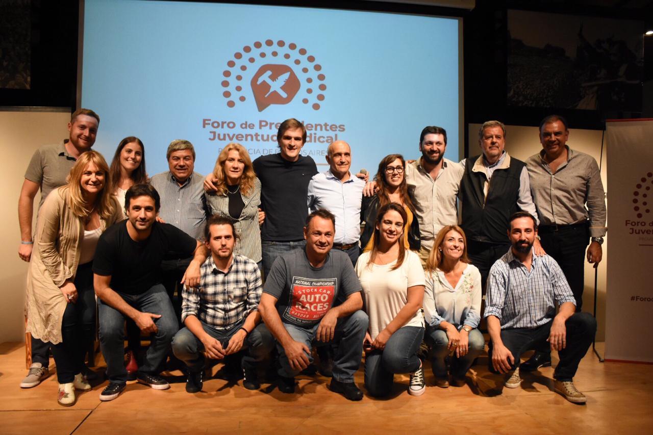 La juventud Radical con Daniel Salvador y Luis Otero