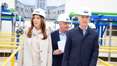 """Macri y Vidal inauguraron una """"rehabilitación y modernización"""" de una Planta de ABSA en Ensenada"""