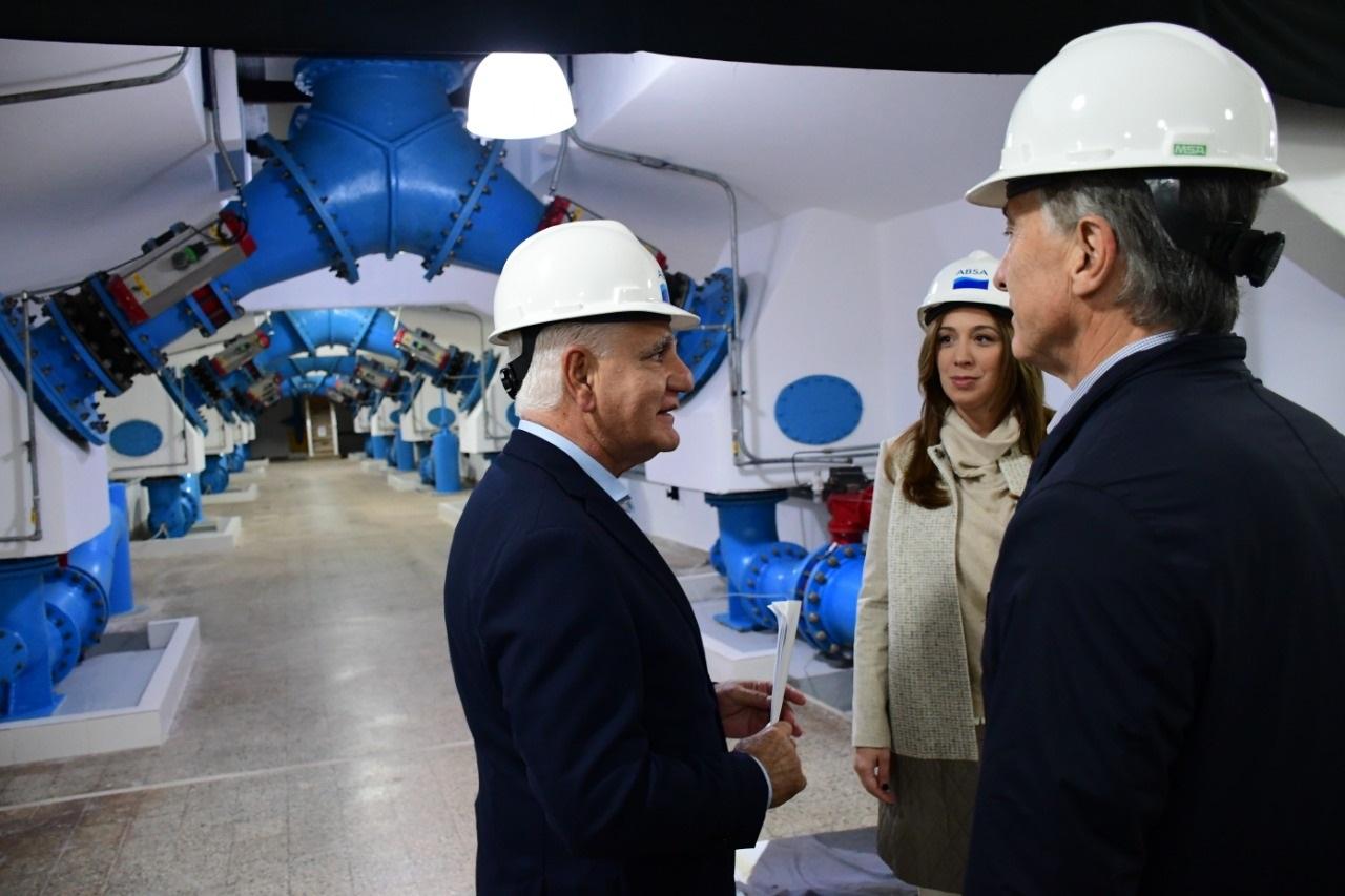 Macri y Vidal en la planta de ABSA en Ensenada