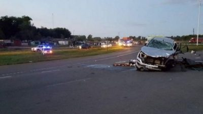 Carmen de Areco: Mueren 8 personas en un choque frontal en la Ruta Nacional Nº7