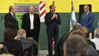 La Plata / Garro anunció la creación de un Fondo Solidario para fortalecer a los clubes de barrio