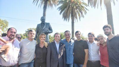El PJ de la provincia homenajeó a Alfonsín a 10 años de su muerte en su ciudad natal